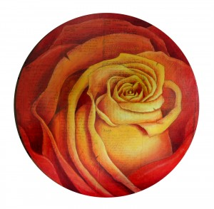 Round Rose Fire